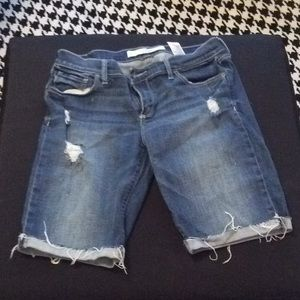 Pants - Abercrombie and Fitch distressed denim shorts.